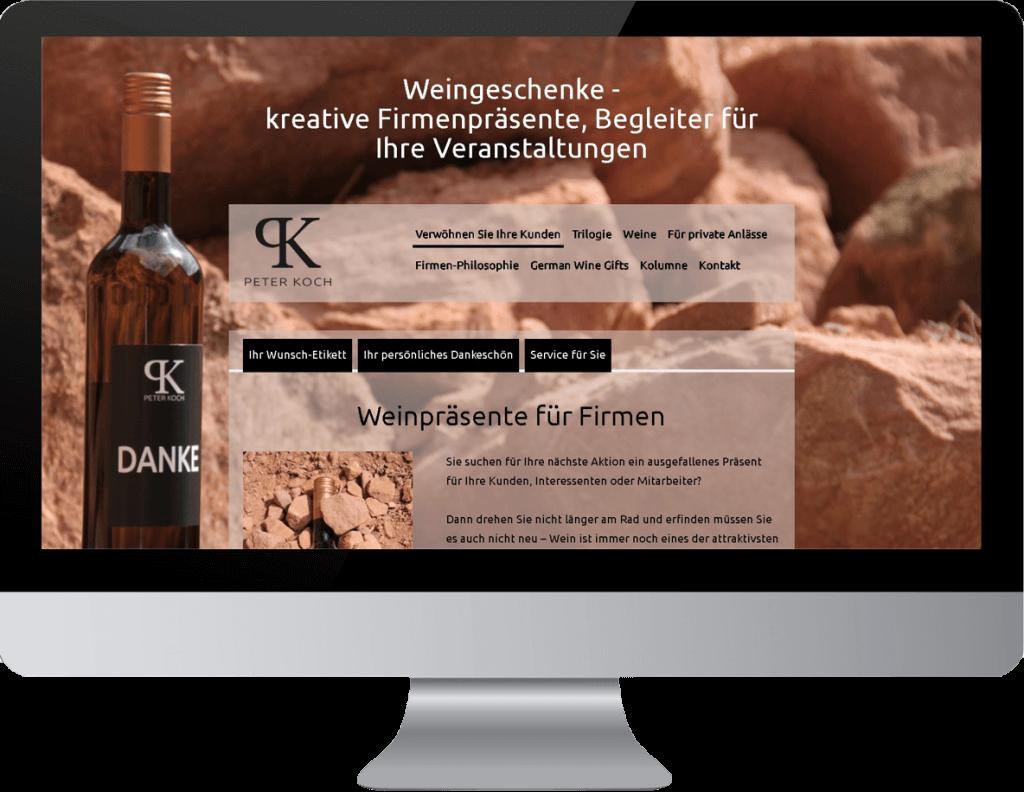 Website Beispiel Weingeschenke