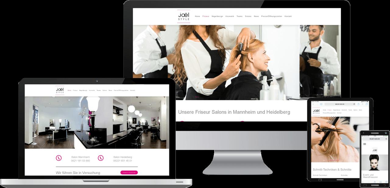 Responsive Webseite, Webdesign Friseur-Salon