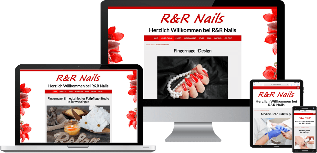 Responsive Website, Webdesign Fußpflege-Studio