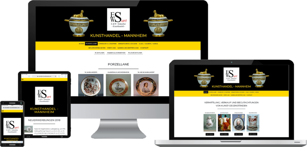 Responsive Website, Webdesign Kunsthandel