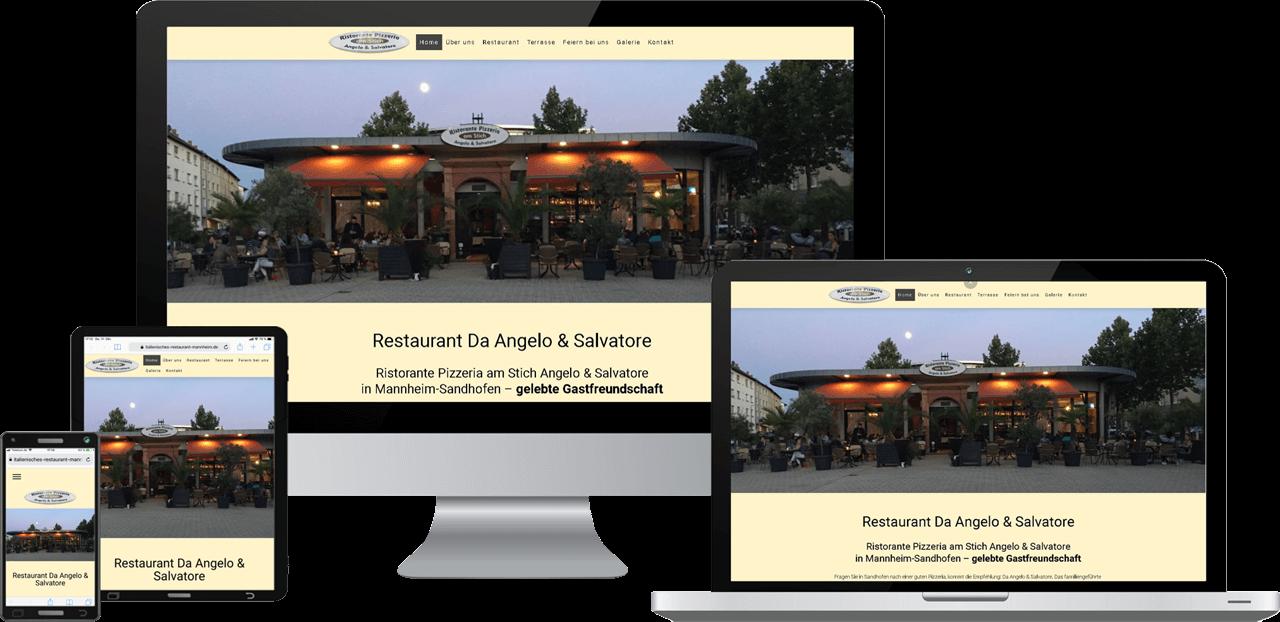 Responsive Webseite, Webdesign Restaurant