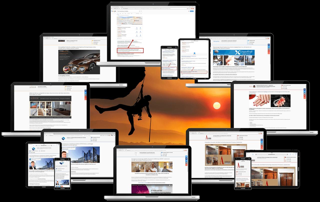 Google Startseite mit VIPiBook Mikro Ads