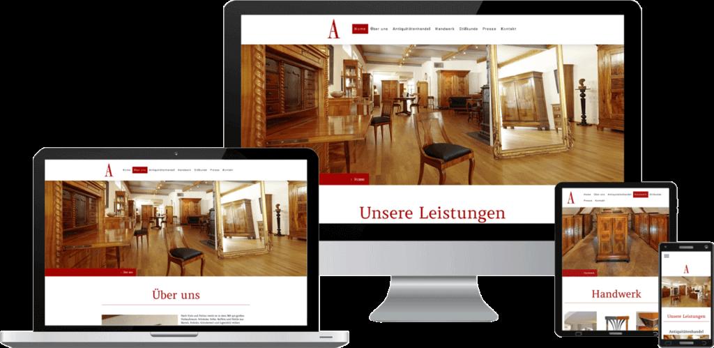 Website-Webdesign Antiquitäten