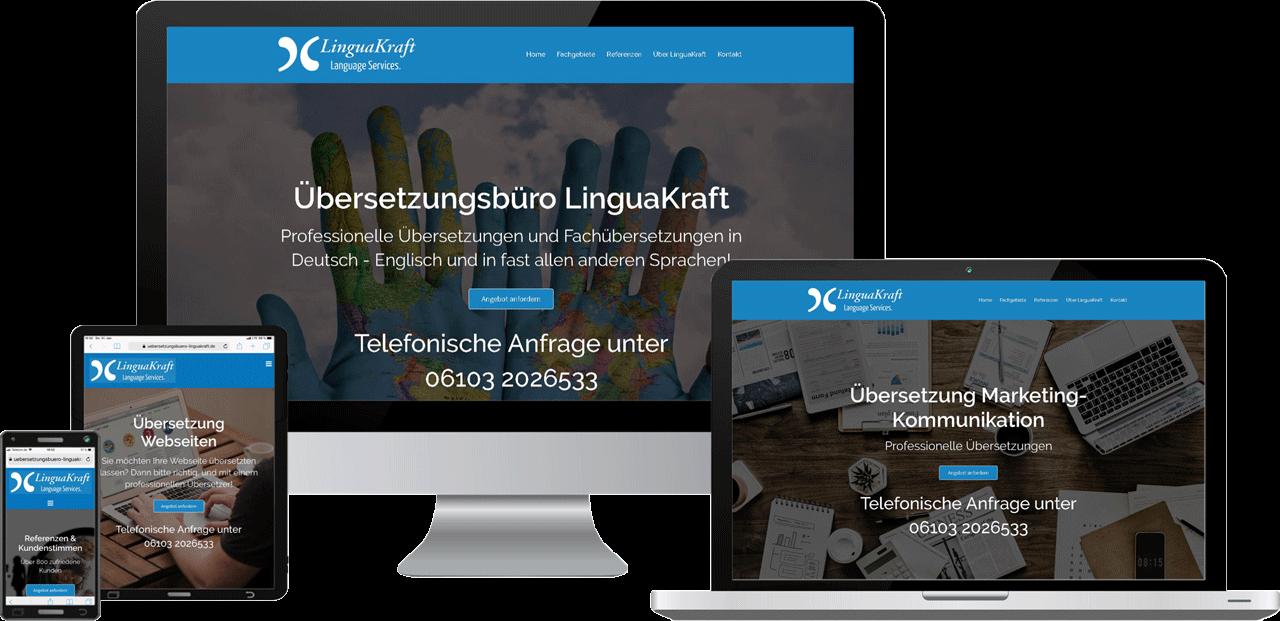 Webdesign, Website Übersetzungsbüro