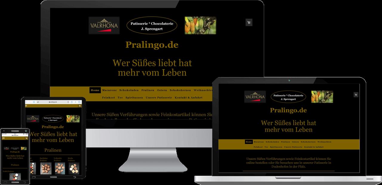 Responsive Online-Shop Pralingo