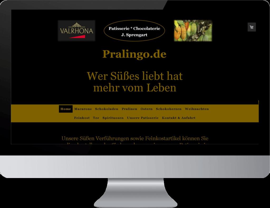 Onlineshop Erstellung Pralingo