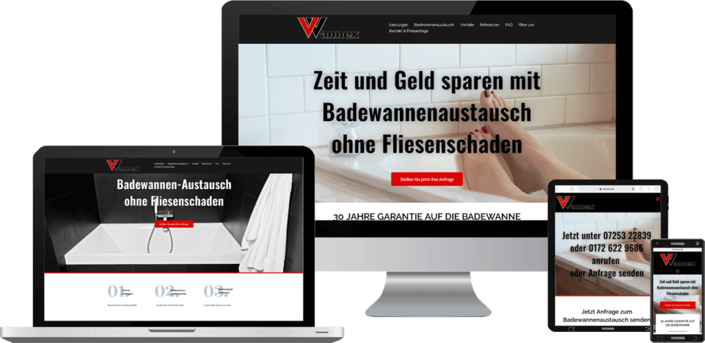 Website Erstellung für Sanitär Betrieb