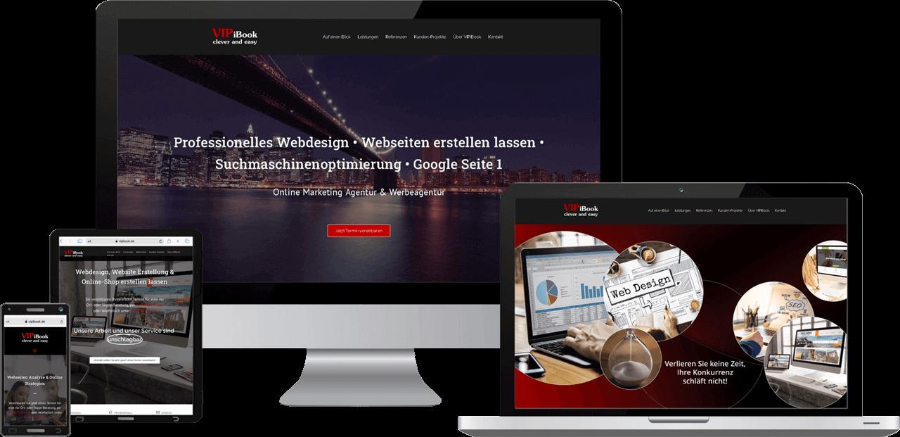 VIPiBook Webdesign, Website Erstellung, SEO und Online-Marketing