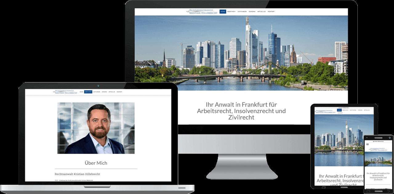 Website Erstellung Rechtsanwalt Hillebrecht Frankfurt